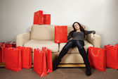 Shopping exhaustion — Stock Photo