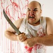Stock Photo: Mad butcher