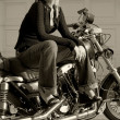 Motorcycle girl — Stock Photo #3485226