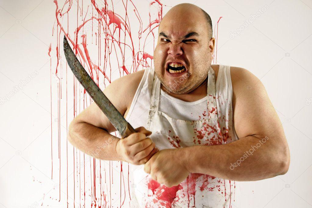 фото чувак с ножом