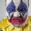 Evil psycho clown — Stock Photo