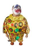 Psycho clown with axe — Stock Photo