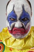 Evil psycho clown — Stock Photo