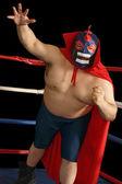 Mexican wrestler attacks — Stock Photo