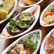 Stock Photo: Plates of Spanish tapas
