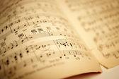 Velha partituras — Foto Stock