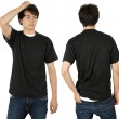 Stock Photo: Male wearing blank black shirt