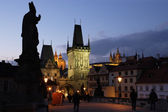 Prague in the early evening — Stock Photo