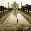 Taj Mahal sepia - Stock Photo