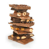 Chocolate stack — Stock Photo