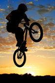 Airborne bike — Stock Photo