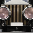 Stock Photo: Antique car headlamps