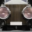 Antique car headlamps — Stock Photo