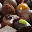 Chocolates closeup — Stockfoto