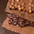 Chocolate slab — Stock Photo