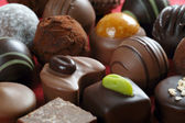 Chocolates closeup — Stock Photo