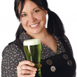 Serving the green beer — Stock Photo #3884026