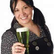 Serving the green beer — Stock Photo