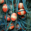 Tangled fishing nets - Stockfoto