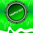 Royalty-Free Stock ベクターイメージ: Abstract disko green background