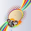 Royalty-Free Stock ベクターイメージ: Abstract rainbow music Background