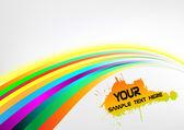 Abstract rainbow arrow banner — Stock Vector