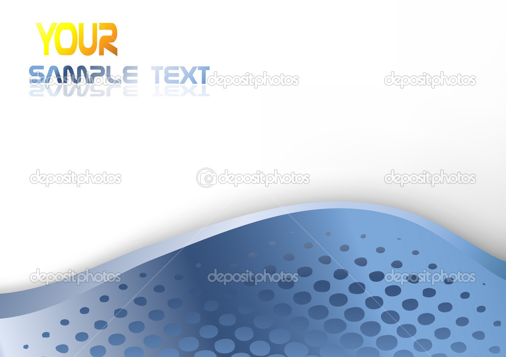 Abstract blue background template. Clip-art — Векторная иллюстрация #3146977