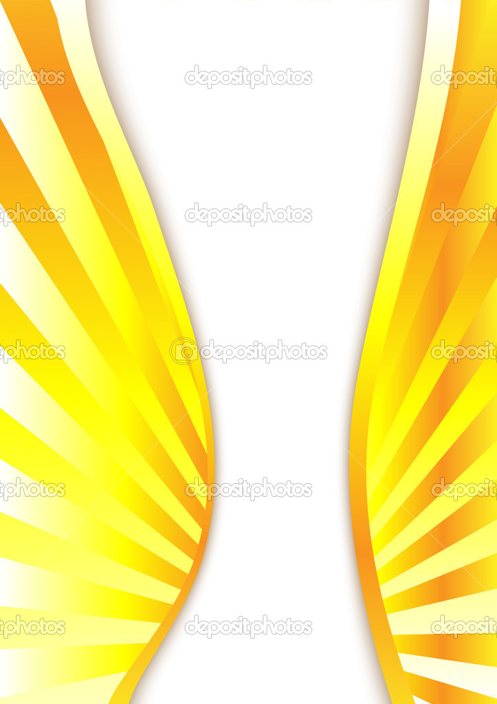 Abstract yellow background. Clip-art — Stock Vector #3146980