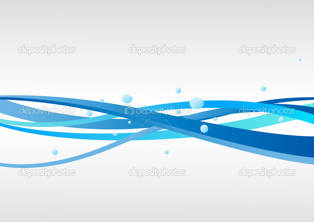 Vector blue background with waves. Clip-art — Stock Vector #3282203