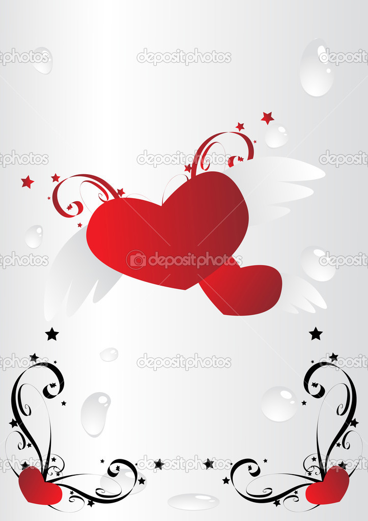 Vector love hearth illustration. Clip-art  Stock Vector #3282208