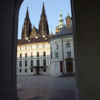 Stock Photo: Prague Castle Archway