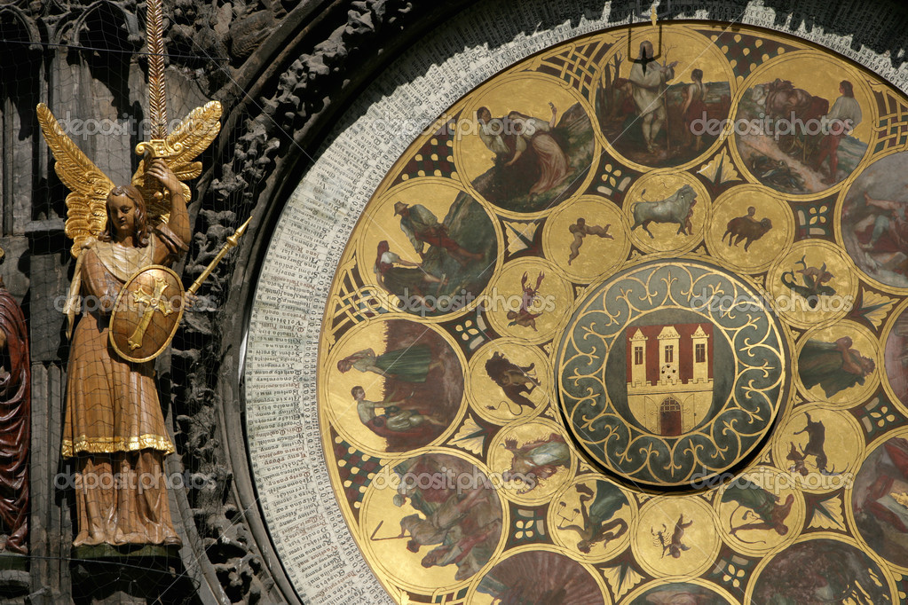 Portion of Astrological Clock in Prague, Czech Republic — Stock Photo #3140985