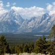Grand View Of Grand Teton — Stock Photo