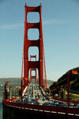 Golden Gate Traffic — Stockfoto