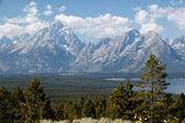 открывается величественная панорама гранд-титон — Стоковое фото