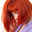 Stock Photo: Beauttiful woman with red hair
