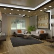 3D interior apartments - Foto de Stock  
