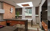 3D kitchen interior — Stock Photo