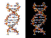 Abstract DNA made from boxes — Stock Photo