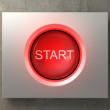 Pushed red Start button — Stock Photo