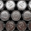 Aluminium beer cans background — Stock Photo