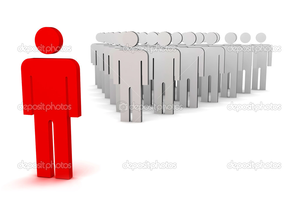Standing out from the crowd — Stock Photo #3040002