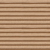 Seamless texture of brown corrugate cardboard ba — Stockfoto