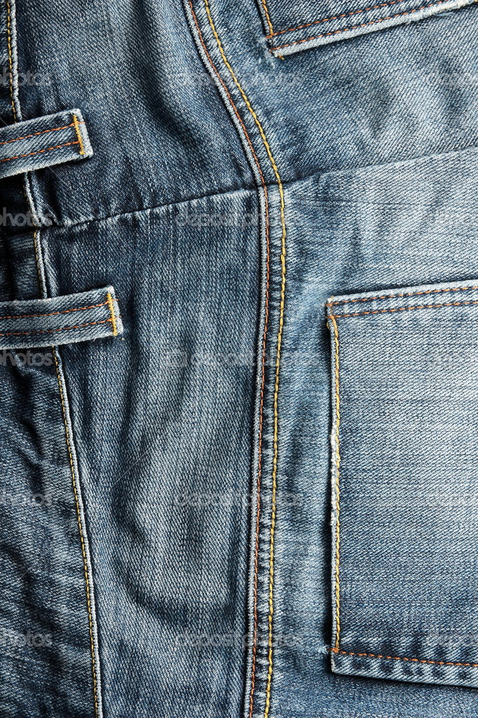 Close up picture of blue jeans with pockets — Stock Photo #3154124