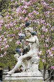雕像与鸽子 — 图库照片