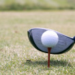 Golf Driver and Ball — Stock Photo