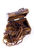 Wood Chest, jewellery — Stock Photo