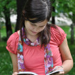 Girl reading book — Stock Photo #3200212