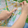 Stock Photo: Girl with the city map