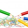 Colorful pencils - vector illustration - jpeg version in my portfolio — Imagen vectorial